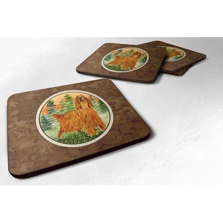 Set of 4 Irish Setter Foam Coasters