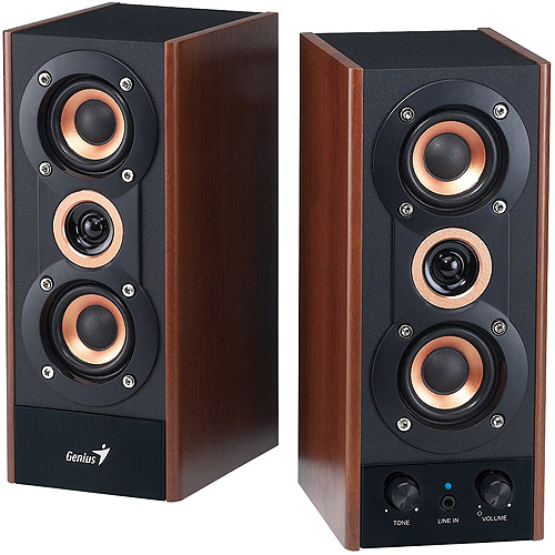 Genius SP-HF800A 2.0 Speaker System, Maple Wood