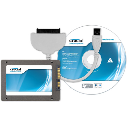 """Crucial Technology 128GB m4 2.5"""" SATA Solid State Drive Kit"""