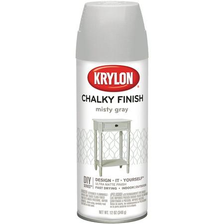 Krylon Chalky Finish Aerosol Spray Paint 12oz Misty