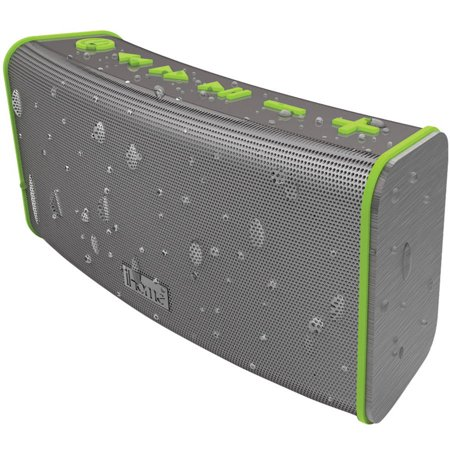 iHome Rechargeable Splashproof Stereo Bluetooth Speaker with Speakerphone, Gray Green