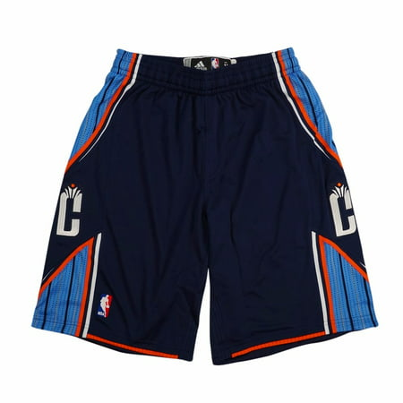 Charlotte Bobcats NBA Adidas Navy Authentic On-Court Climacool Team Game Shorts For Men (Charolette Bobcats)