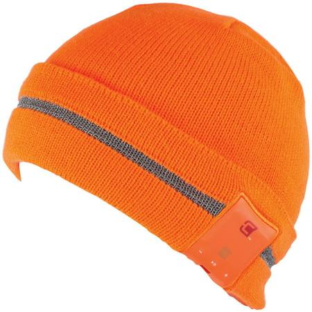 2ea17559292 Caseco CC-BTQ-GLARE-OR Blu-Toque Bluetooth Beanie (Glare Neon Orange) -  Walmart.com