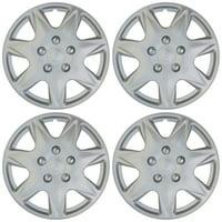 "4pc Hub Cap ABS Silver 17"" Inch for OEM Rim Wheel Skin Replica Cover Covers Caps"