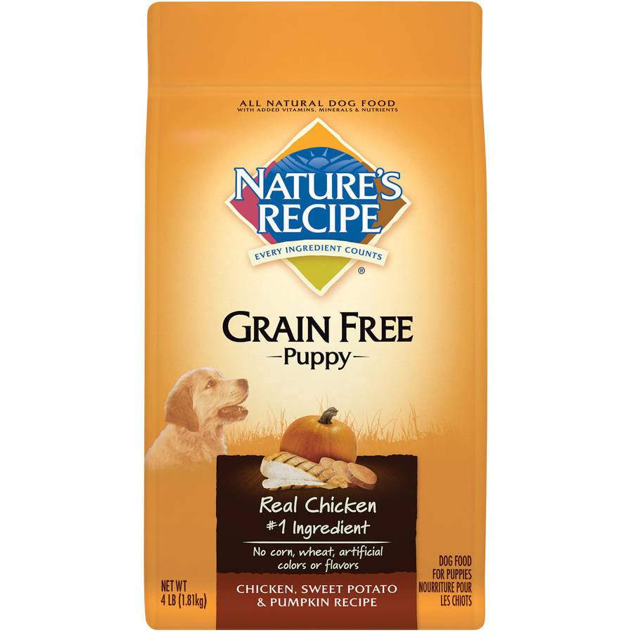 Nature's Recipe Grain Free Puppy Chicken, Sweet Potato and Pumpkin Recipe Dry Dog Food, 4 lbs
