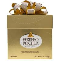 Ferrero Rocher Hazelnut Milk Chocolates, 7.9 oz, 18 Ct