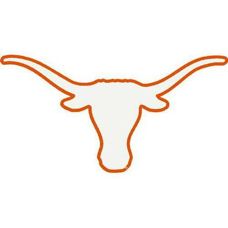 Texas Longhorns Transfer Decal Logo White With Orange Outline