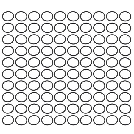 100pcs Black 19mm Outer Dia 1.2mm Thickness Sealing Ring O-shape Rubber Grommet - image 2 de 2