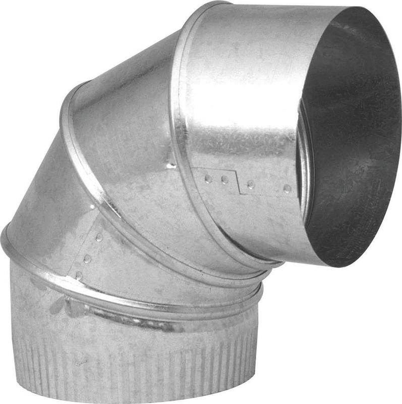 Imperial GV0300-C Adjustable Stove Pipe Elbow, 0 - 90 deg, 7 in, 28 ga