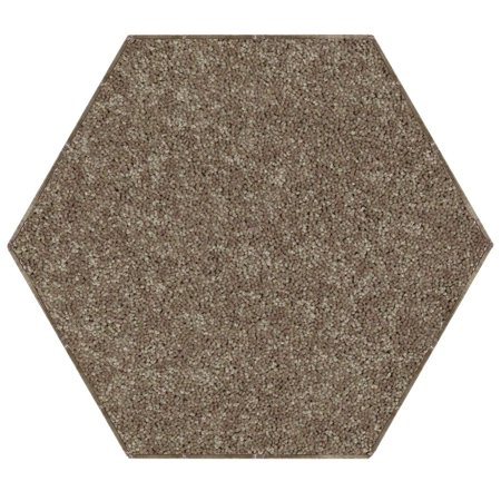 Home Queen Solid Color Area Rugs Brown - 12' Hexagon ()