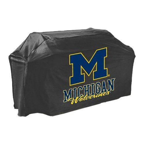 Mr. Bar .B.Q Michigan Wolverines Grill Cover - Supports Grill