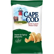 Cape Cod Kettle Cooked Potato Chips, Sweet & Spicy Jalapeno, 8 Oz