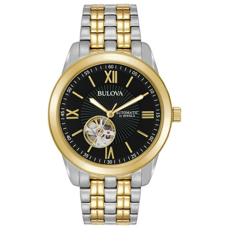 Bulova Men's Two Tone Stainless Steel Automatic Watch - Watch Halloween 2