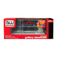 6 Car Interlocking Acrylic Display Show Case with 1967 Ford Mustang GT Red for 1/64 Scale Model Cars by Autoworld