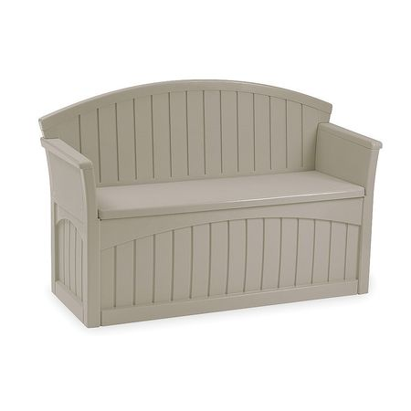 "Suncast PB6700 34.5"" H X 54.75"" W X 21"" D Light Taupe Storage Patio Bench by Suncast Corp."