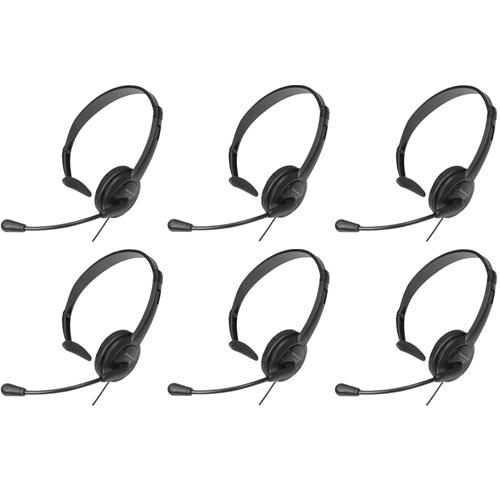 Panasonic KX-TCA400 Over The Head Headset W/ Noise-Canceling Microphone ( 6 Pack )