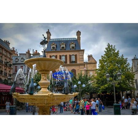 Canvas Print Ratatui Disneyland Building Paris France Home Stretched Canvas 10 x 14