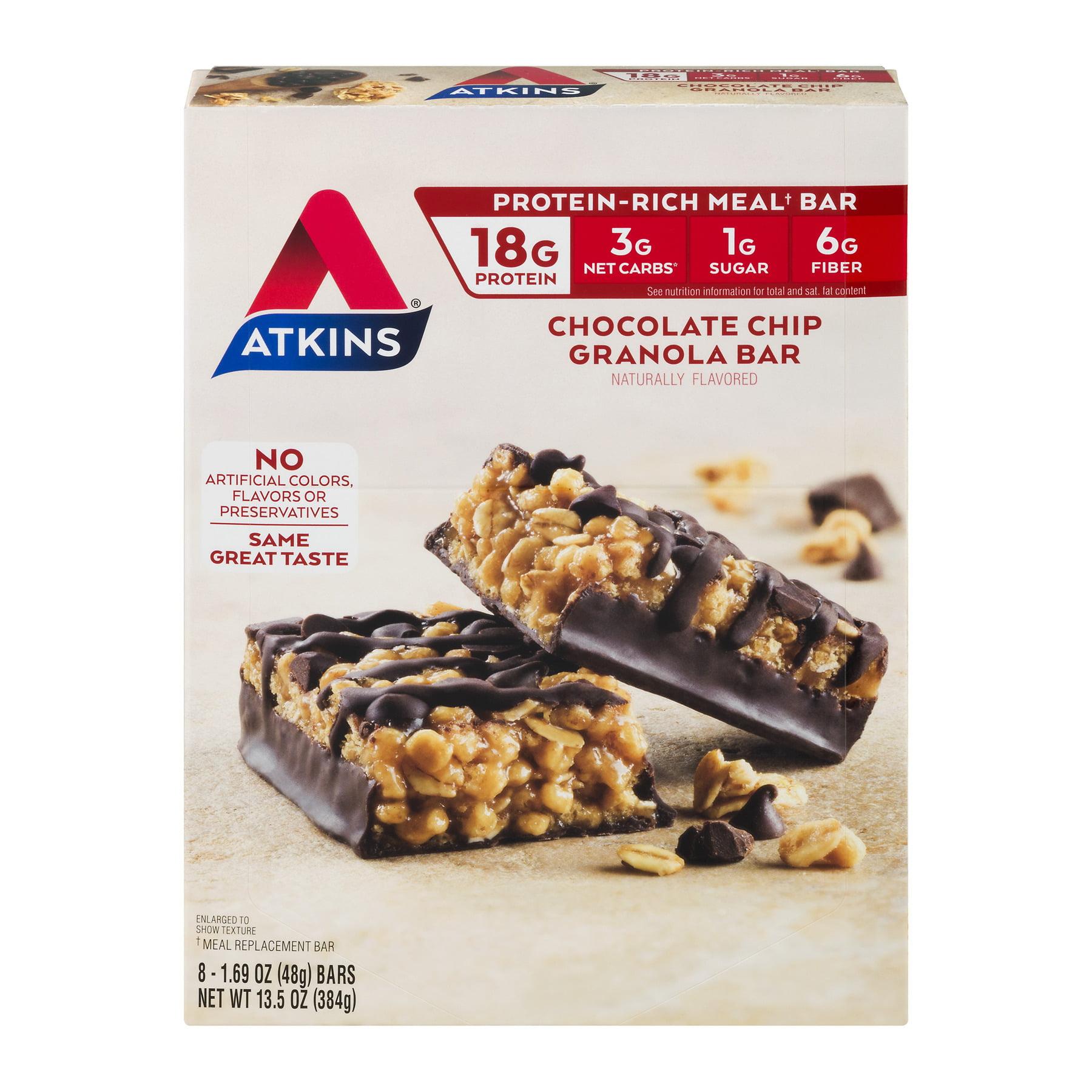 Atkins® Chocolate Chip Granola Meal Bars 8-1.69 oz. Bars