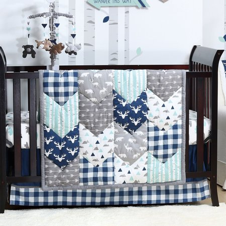 Woodland Trail Forest Animal Baby Boy Crib Bedding - 11 Piece Sleep Essentials Set ()