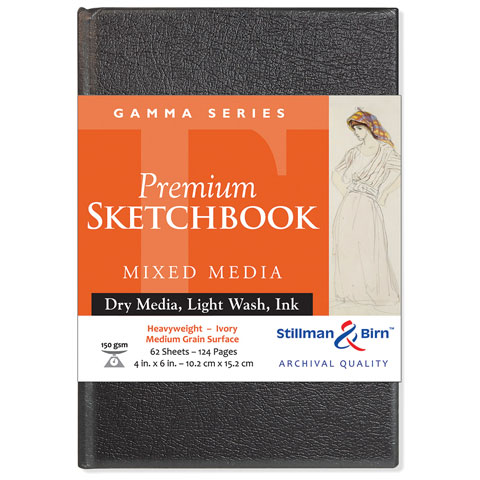 """Stillman & Birn - Gamma Series Premium Hard-Bound Sketch Book - Hard-Bound - 5.5"""" x 8.5"""""""