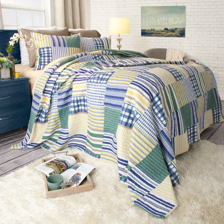 Somerset Home 2pc Lynsey Patchwork 2 Piece Twin/Twin-XL Quilt Bedding - Patchwork 5 Piece Quilt