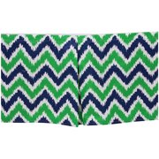 Bacati - MixNMatch Navy/Green Zigzag Tailored with 100% Cotton Percale 13 inch drop Crib/Toddler Dust Ruffle