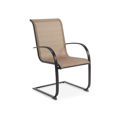 Letright Industrial 721 043 001 Concord Sling C Spring Dining Chair  Tan   Dark Brown  Must Be Ordered In Quantities Of