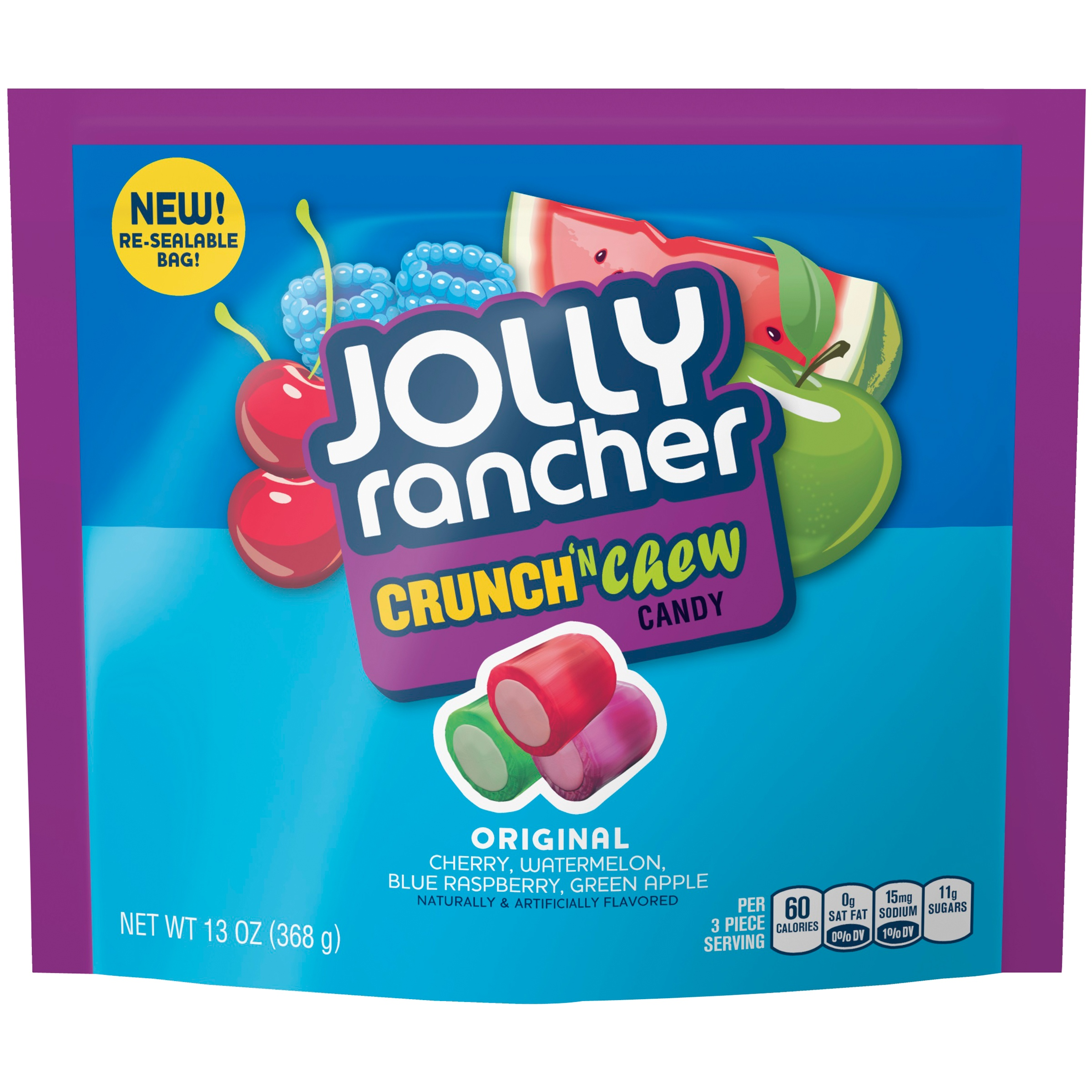 (4 Pack) Jolly Rancher, Original Crunch 'N Chew Candy Assortment, 13 Oz