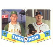 2018 Topps Heritage Then and Now #TN-15 Chris Sale/Catfish Hunter Boston Red Sox/Oakland Athletics Baseball Card