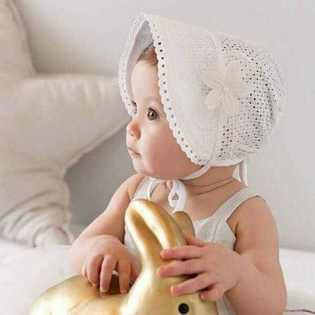 The Noble Collection Cute Toddlers Baby Girls Flower Princess Sun Hat Cap Summer Cotton Hat Bonnet