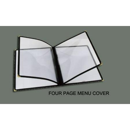 Winco 4 Page Menu Cover  12 Inch X 9 5 Inch