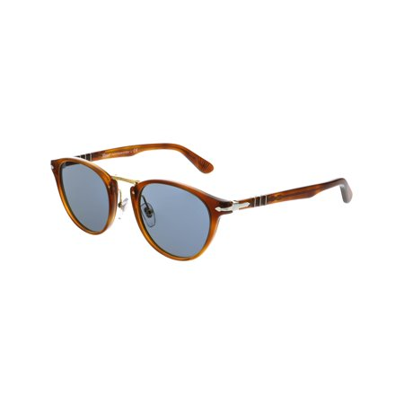 Persol Men's Mirrored PO3108S-96/56-49 Brown Round Sunglasses