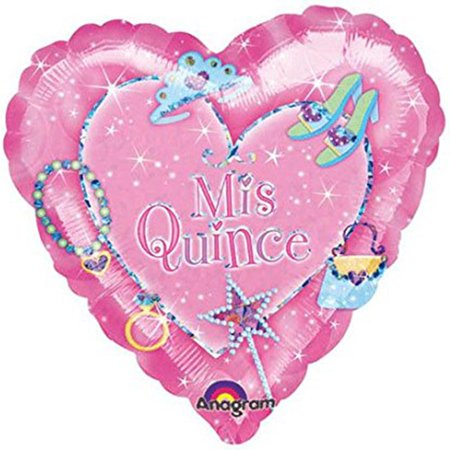 Mis Quince Anos Diamond Shape Pink Foil / Mylar Balloon 18