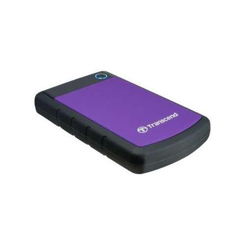 "Transcend TS1TSJ25H3P StoreJet 25HP3 2.5"" External Hard Drive - 1TB, USB 3.0, Up to 5Gbps, USB Powered, Shock Protectio"