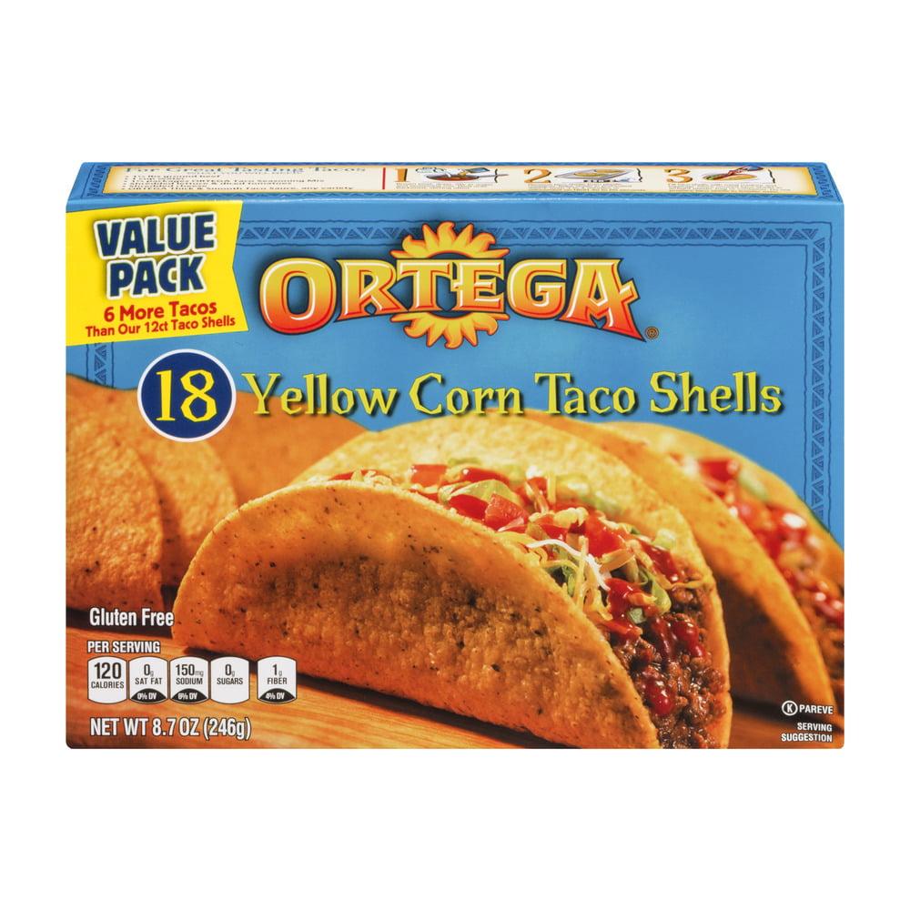 Ortega Yellow Corn Taco Shells - 18 CT