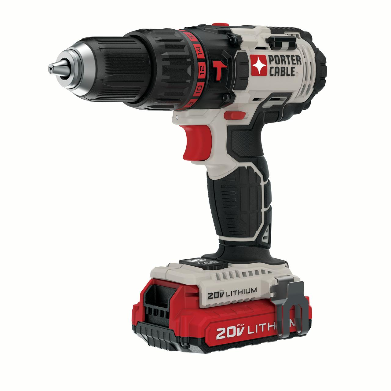 PORTER CABLE PCC620LB 20V MAX Lithium-Ion Cordless 1/2-Inch Hammer Drill Kit