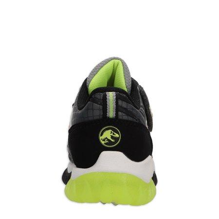 Jurassic World Toddler Boys License Light Up Athletic Sneaker, Sizes 8-13