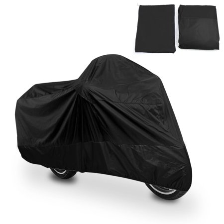 L 180T Rain Dust Motorcycle Cover Black Scooter Waterproof UV Protector