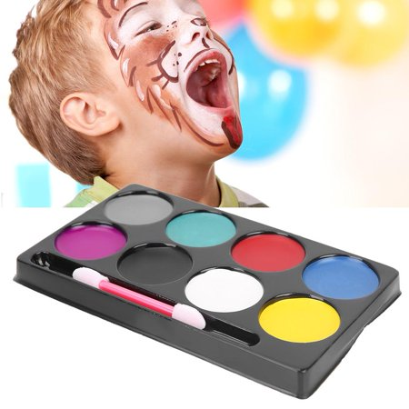 Kids Halloween Face Painted (FAGINEY 8 Colors Non-toxic Oil Paint Face Body Halloween Day Children Painting Makeup Set, Face Paint, Painting)