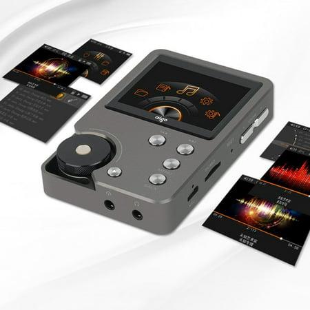 Grayblack Aigo MP3 Player 105 Universal Premium Gray HiFi Enthusiast Lossless Music 2.0 Inch