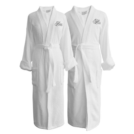 Luxor Linens Wyndham Egyptian Cotton His and Hers Terry Spa Robe Set