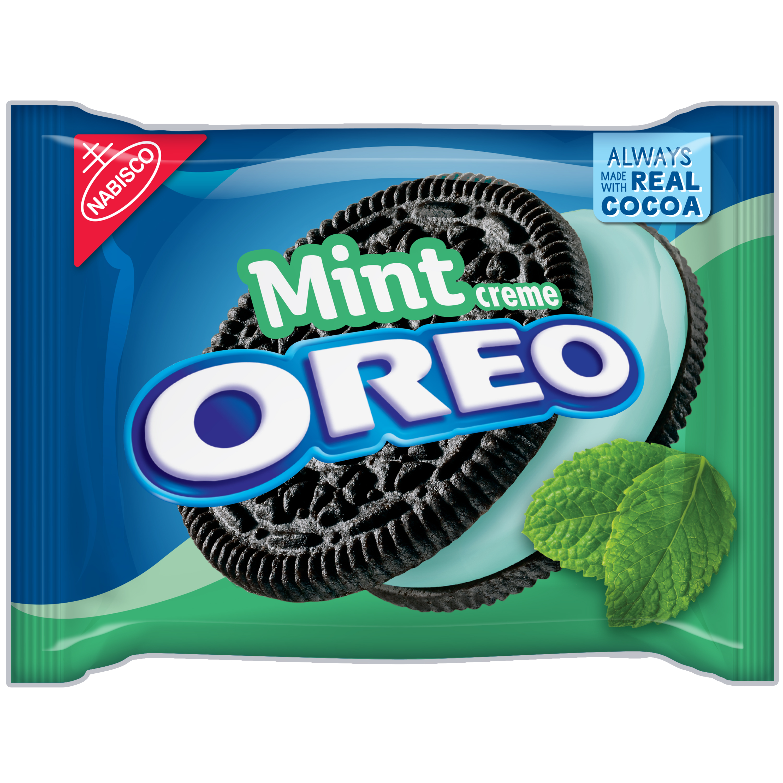 Oreo Chocolate Sandwich Cookies Mint Creme, 15.25 OZ