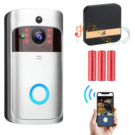 WiFi Smart Video Doorbell Camera, EEEkit Wireless Door Bell 720P HD  Wireless Home Security, Doorbell Camera, APP Control for iOS Android  Google, 3