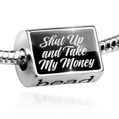 Bead Classic design Shut Up and Take My Money Charm Fits All European (Fry Shut Up And Take My Money)