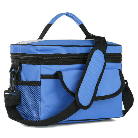 8 L Premium Thermal Insulated Lunch Bag Box Cooler Tote with Shoulder Strap   for Adults, Kids   Soft Leak Proof   Fits 12 Cans Medium Capacity Lunch Cooler for Office,