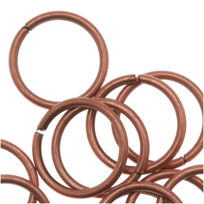 Genuine Antiqued Copper Open 8mm Jump Rings 20 Gauge (50)