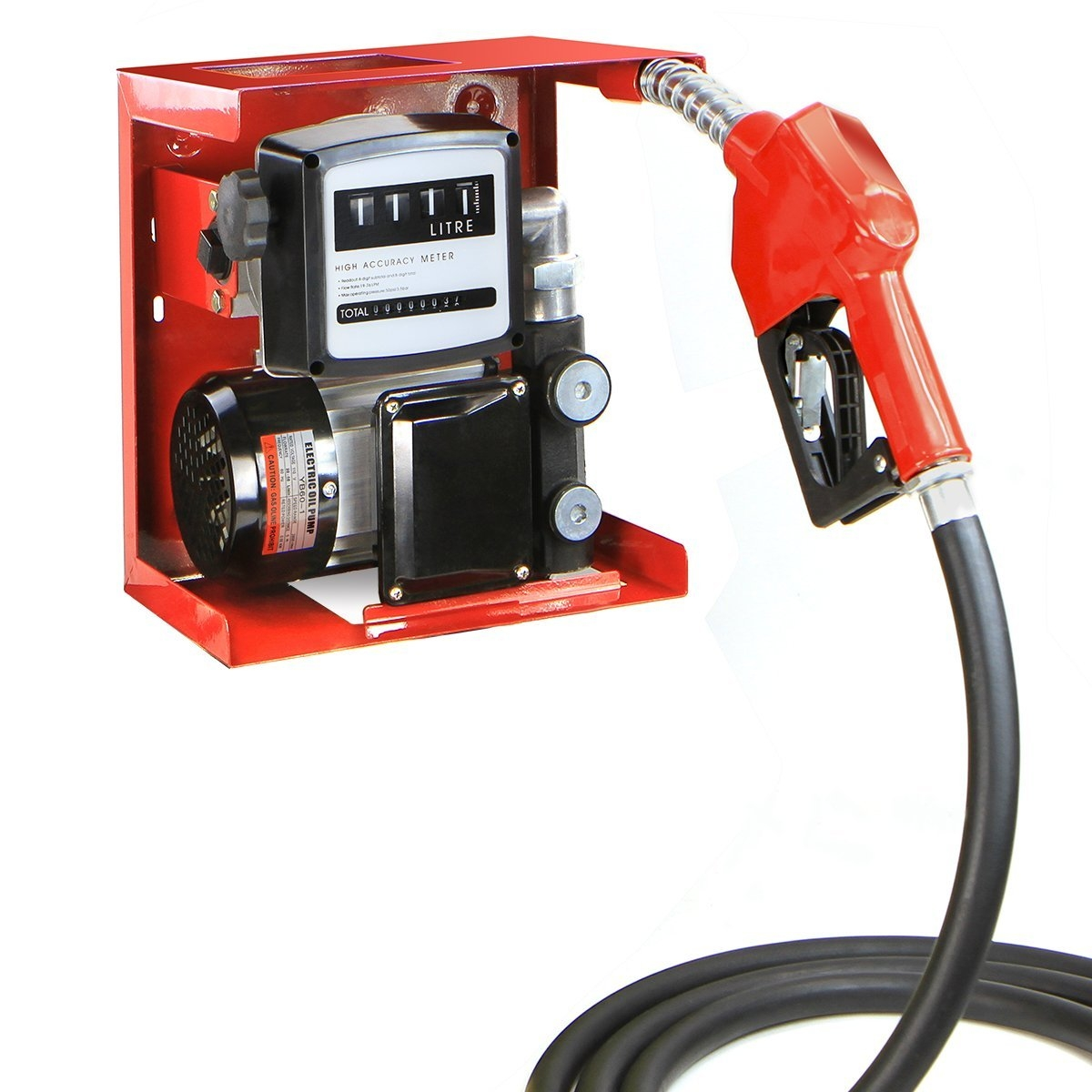 110v Electric Oil Transfer Pump With Meter Hose & Nozzle
