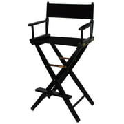 Black Frame Directors Chair with Black Canvas