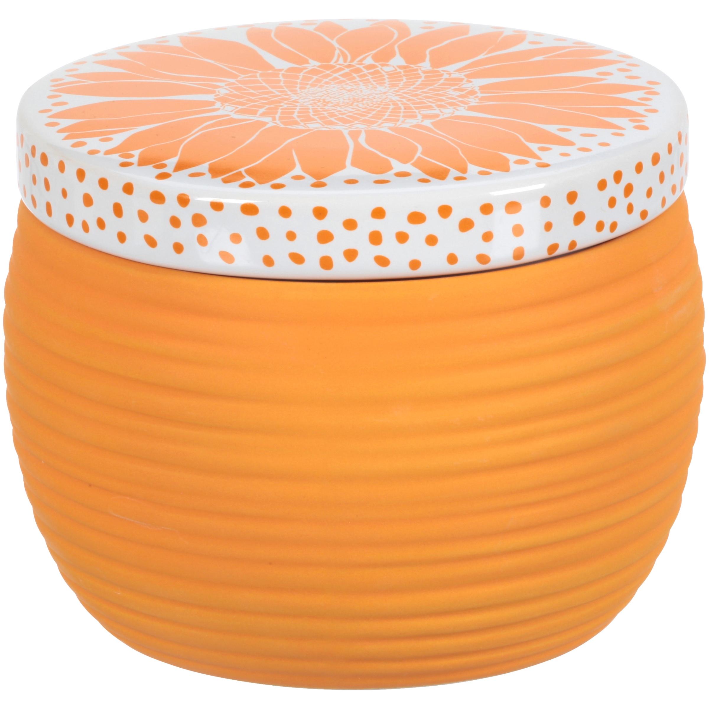 Allure Ceramic Sunflower Cotton Ball Jar