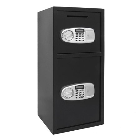 Zimtown Double Door Cash Office Security Lock Digital Safe Depository Drop Box (Dual Compartment Drop Safe)